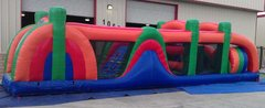 45 Ft Rainbow Playland Obstacle Course Rental Item 727