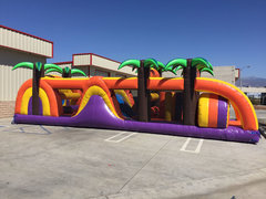 45 Ft Tropical Playland Obstacle Course Rental Item 732