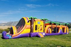 75 Ft Tropical Obstacle Course Challenge W/Pool (Item 703)