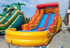 20 Ft Fire & Ice Dual Ln Water Slide (Item 336)