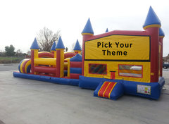 45 Ft Standard Boys Jumper w/Obstacle (Item 700) CHOOSE YOUR THEME!