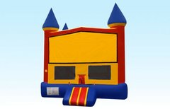 Primary Colored Castle W/Hoop (Item 101) CHOOSE YOUR THEME.