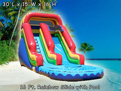 16 Ft Rainbow Water Slide (Item 318)
