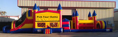 60 Ft Primary Castle Obstacle W/Pool  (Item 728) Choose Your Theme!