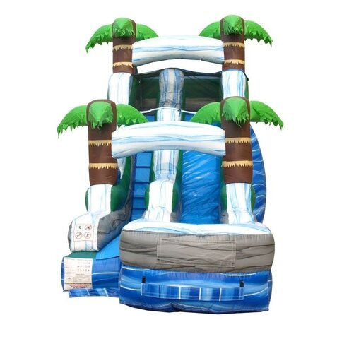 Water Slide 15ft Tropical Paradise Slide with Inflated Landing Zone