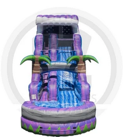 Water Slide 18ft Purple Crush Tsunami with Pool
