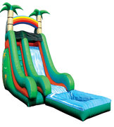 Water Slide 18ft Tropical with Pool