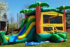 Paradise Bounce House Slide Combo