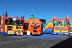 Halloween themed inflatables and games