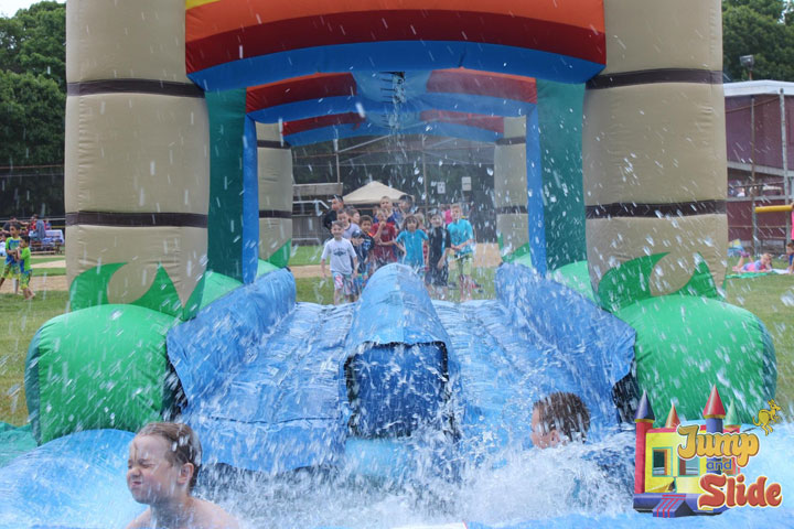 inflatable water slides for rent long island