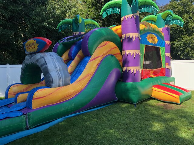(4)  Maui Double Lane combo bounce house (Dry unit)#CU32