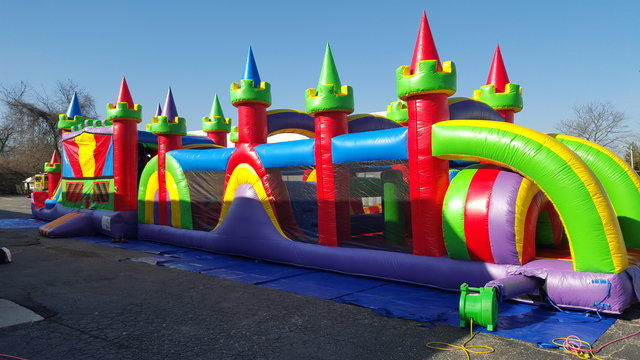 65ft  Bouncer Obstacle Course #OC8