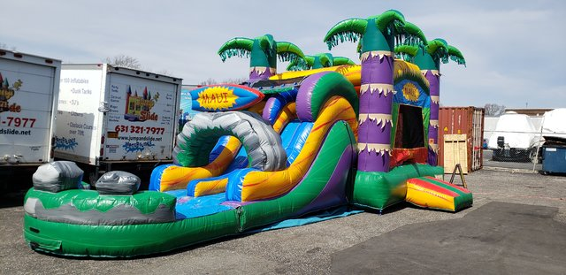 (37)  MAUI WATER SLIDE COMBO BOUNCER#WS35