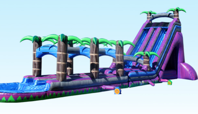 PURPLE PARADISE WATER SLIDE WITH POOL (NEW)