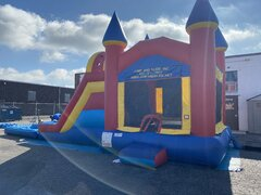 BOUNCER AND 2 LANE WATERSLIDE WITH POOL FOR SALE $2,800