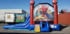 (42)  SPIDER MAN WATER SLIDE BOUNCE COMBO #WS43