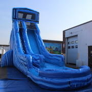 (23)  Blue Lagoon very fast  Water Slide #WS6 ...WITH POOL!