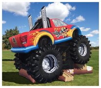(3) Monster Truck Inflatable #CU34