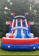 (13)  All American double lane waterslide with pool