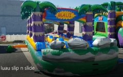 (34)  LUAU  Slip n Slide 2 lanes with POOL#WS34