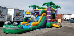 (37) MAUI 2 lane Water Slide Bouncer combo with pool #WS24