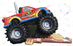 Monster Truck bounce house combo #cu34