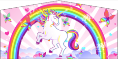 ART PANEL RAINBOW UNICORN