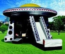 (6) ALIEN SPACESHIP UFO BOUNCE HOUSE COMBO
