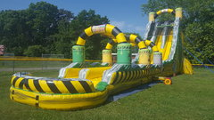 TOXIC FLUMES 2 LANE WATER SLIDE WITH POOL (NEW 2018)