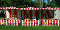 Carnival Booths 8X8 RED AND WHITE #CB1