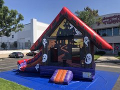 Haunted House bouncer with slide