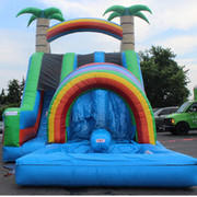 Rainbow Double LANE Tunnel Slide WITH POOL ! #WS11