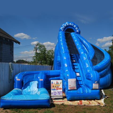 Corkscrew Waterslide WITH POOL!  #WS28