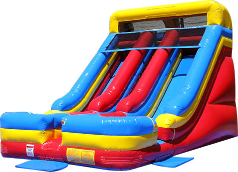 big double dry slide