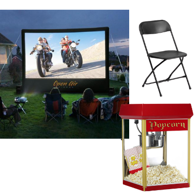 night under the stars outdoor movie screen package