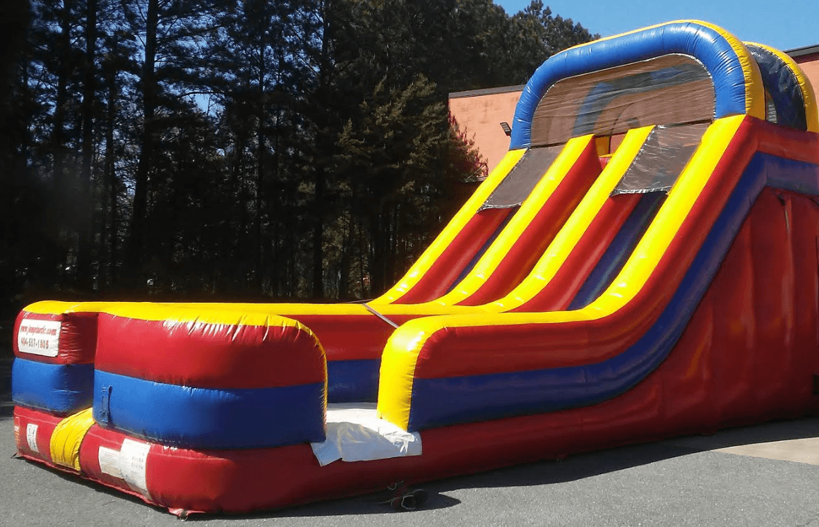 double fun dry slide