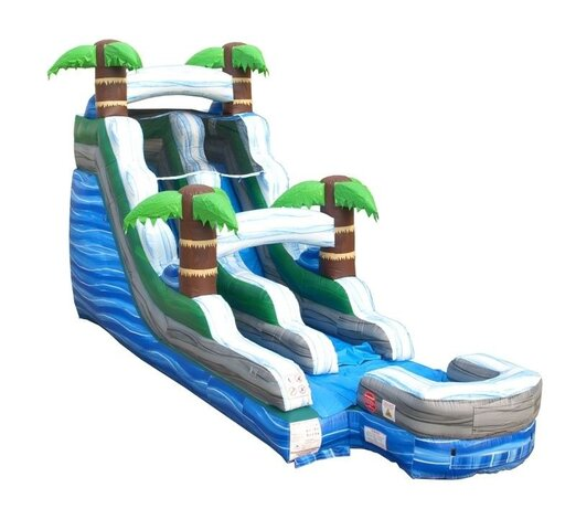 15' High Tropical Marble Water Slide