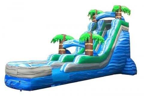 18' High Tropical Marble Water Slide