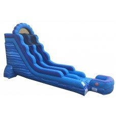 18' High Blue Marble Water Slide  (SWD181705)