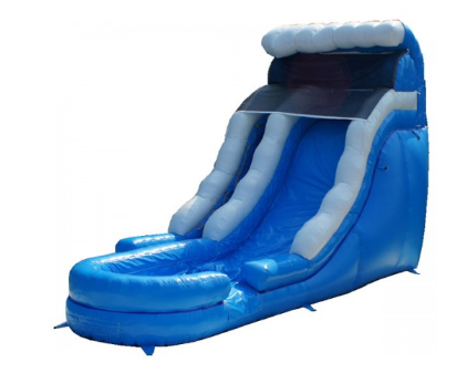 18' High Blue Wave Water Slide (SWD18180620)