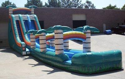 22' High Tropical Thrill Dual Water Slide with Slip n Slide (SW221503A)