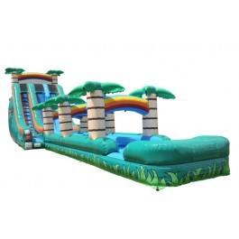22' High Tropical Thrill Dual Water Slide with Slip n Slide