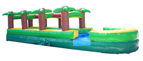 27' Long Tropical Palm Slip and Slide w/ Pool (SWSS070718)