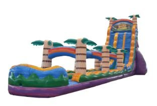 27' High Huge Tiki Plunge Dual Lane Water Slide w/ Slip and Slide