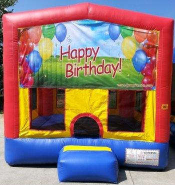 z Happy Birthday Balloons PartyTime Bouncer - Large