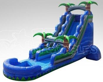 22' High Blue Water Rush Water Slide (SW221502)
