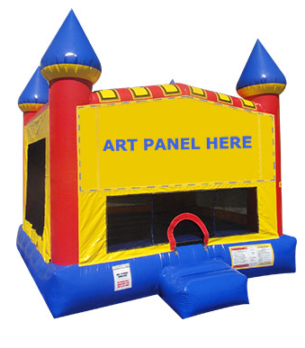 Playtime Primary Castle Bounce House - M (M13018