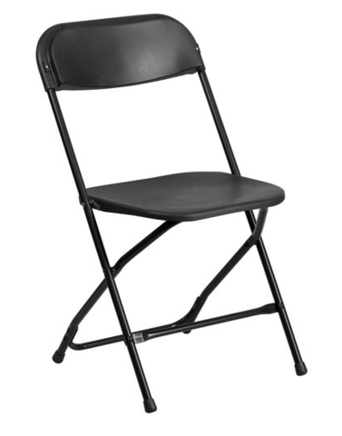 Chairs - Black Plastic Folding (TCBLSC)