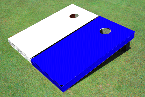 Cornhole Game Blue/White