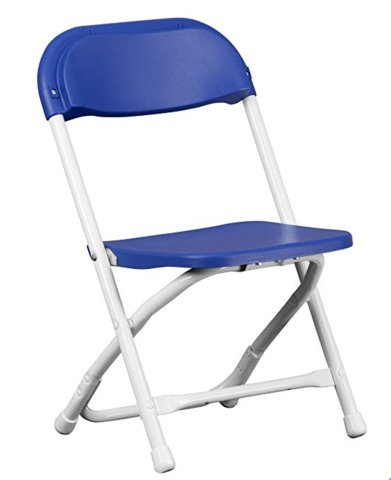 Children's Chairs - Blue Folding (TCCBS)